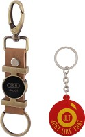JLT Premium Long Audi Car Logo Locking Key Chain (Multicolor)