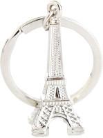 True Traders True Traders Silver Metal Eiffel Tower Keychain Key Chain (silver)
