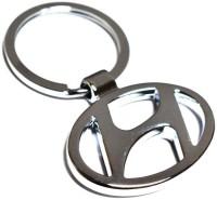 Rudham Hyundai Logo Metal Car Ring Keychain (Silver)