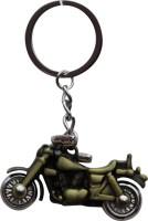 Anishop Bullet Royal Enfield Bike Metal Keyring Key Chain (Golden)