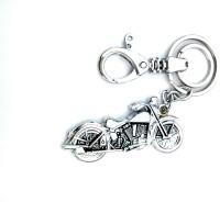 Ezone Bullet Bike Metal Locking Key Chain (White)
