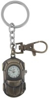 Kairos Designer Car Pocket Watch Clock Keychain (Brown)