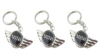 Ezone Cooper Car,Bike,Bag Locking Spring Gate_Pack Of 3 Key Chain (Black)