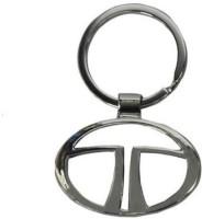 Motoway Tata Logo Metallic Car & Bike Key Chain (Silver)