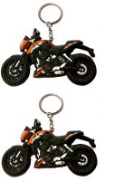 Fcs Bike Ktm Duke Rubber Key Chain (Multicolor)