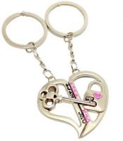 CTW Heart Shape Metal Keychain (Silver)