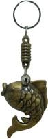Aaradhi Divya Mantra Feng Shui Carp Fish For Success Locking Key Chain (Brown)