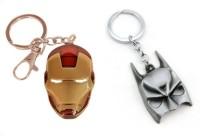 Chainz Iron Man And Batman Mask Silver Metal 3D (Multicolor)