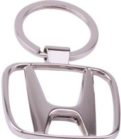 Rudham Honda Logo Metal Car Ring Keychain (Silver)