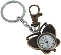 Kairos Premium Butterfly Pocket Watch Clock Keychain (Brown)