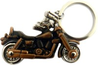 Techpro Royal Enfield Bullet Shaped Key Chain (Metal Copper Color)