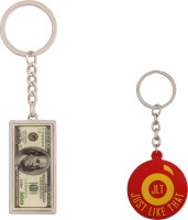 JLT 100 Dollar Note Keychain Locking Key Chain (Multicolor)