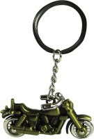 Eshoppee Bullet Bike Antique Golden Metal Key Chain (Multicolor)