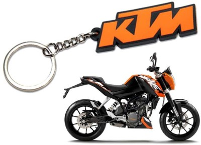 Confident SET OF 2 KTM BIKE And KTM Logo KEYCHAIN (Multi)