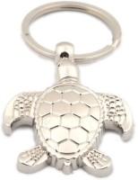 Chainz Metal Feng Shui Sea Turtle Tortoise Keychain (Silver)