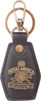 Zeroza Royal Enfield Leather Metal RE26 Locking Key Chain (Black)
