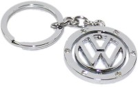 Aura Imported Volkswagen Revolving Full Metal Key Chain (silver)
