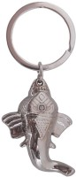 Confident High Quality Finishing Metal Ganesha Key Chain (Silver)