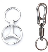 City Choice Spring Hook Combo Locking Key Chain (Chrome)
