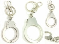 Singh Xpress Combo Of 4 Dabang Mini Hand Cuff- Key Chain - For Car And Bike - Premium Quality - Tinker AccessoriesStainless SteelStandard- Pocket Size Challa With Locking Holder Locking Carabiner (Silver)