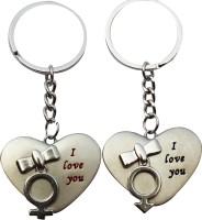 Anishop Cute Heart Love Key Chain (Silver)