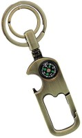 Turban Toys Double Ring Hook Magnetic Metal Compass Key Chain Key Chain (Silver)