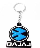 Tech Fashion Bajaj Blue Black Rubber Synthetic Locking Keychain (Blue, Black)