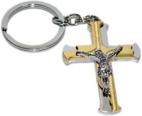 Aura Holy Cross Christmas Special Full Metal Imported Locking Keychain (Silver, Gold)