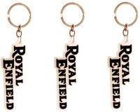 Ezone Royal Enfield Silicone Pack Of 3 Key Chain (Yellow, Brown)