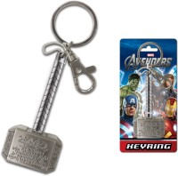 Marvel Official Thor Hammer Pewter Locking Key Chain (Multicolour)