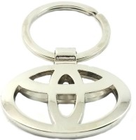 CTW Toyota Car Logo Premium Quality Metal Key Chain (Silver)