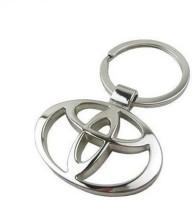 Ezone Full Metal Toyota Loot Metal Ring Key Chain Carabiner (Silver)