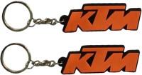 Chainz Pack Of 2 KTM Keychain (Red)