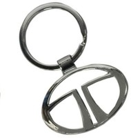 Rudham Tata Logo Metal Car Ring Keychain (Silver)