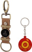 JLT Premium Long Mitsubishi Car Logo Locking Key Chain (Multicolor)