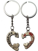Anishop Cute Love Forever Heart Shape Key Chain (Silver)