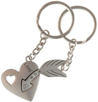 CTW Valentine Couple Heart And Key Love Keychain