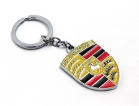 Confident High Quality Metal Porsche Car Logo Keychain (Multi)