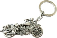 Anishop Royal Enfield Luxury Metal Keychain Key Chain (Silver)