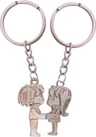 U. R. God Couple Holding Hands Key Chain (Silver)