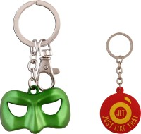 JLT Green Lantern Green Mask Premium Kechain Locking Key Chain (Multicolor)