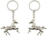 Chainz Pack Of 2 3D Metal Running Horse (Silver)