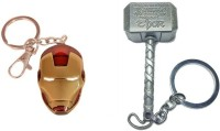 Chainz Pack Of Iron Man And Thor Metal Keychain (Multicolor)