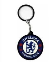Aura Chelsea Football Club Rubber Locking Keychain (Multicolor)