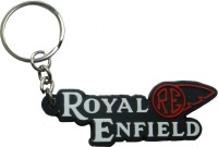 Techpro Singlesided Royal Enfield RE Logo Key Chain (Multi Color)