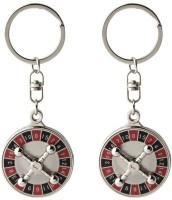 Confident Set Of O2 Metal Number Game Keychain (Multicolor)