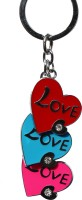 Anishop Cute Heart Shape Bling Key Chain (Red, Pink, Blue)