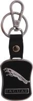 Spotdeal SDL163 Jaguar Leather Metal JR07 Locking Key Chain(Black) Locking Key Chain (Black)