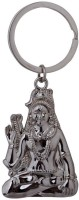 Confident Metal Finishing God Keychain (Silver)