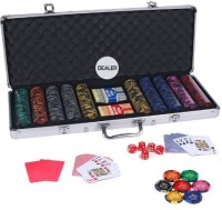 Casinoite Monte Carlo 500 Pcs Dark Millions Clay Pro Poker Chip Set Toy MP (Multi-color)